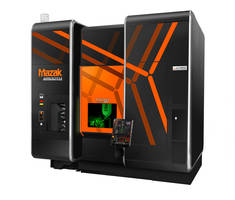 INTEGREX i-200S AM uses fiber laser heat to melt metal powder.