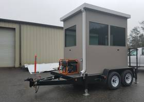 Trailer Mounted Guard Booths Provide Security on the Go