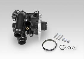 Rein Automotive Water Pump Kit comes with thermostat assembly and temperature switch.