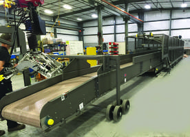 Conveyer System comes with manual air valves and e-stops.
