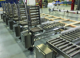 Conveyor allows both to and fro movement of operators.
