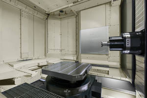 A120nx Horizontal Machining Center features automatic pallet changer.