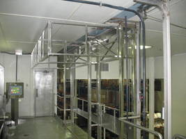 Tri-Side Safety Gate features automatic closing ledge gate.