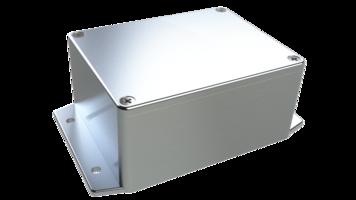 Diecast Aluminum Enclosures protect against fluid penetration.