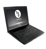 Tornado F5 Laptop features aluminum alloy chassis.