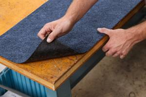 Toughsorb™ Adhesive Mats are made of needle-punched polypropylene.