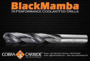 BLACK MAMBA: Hi-Performance Coolant-Fed Drills
