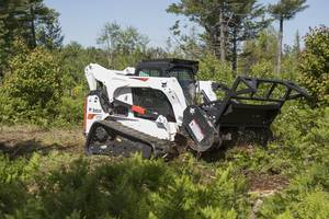 70 in. Forestry Cutter Attachment offers 17% more mulching production.
