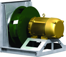 Model APD Plenum Fan features galvanized steel frame.