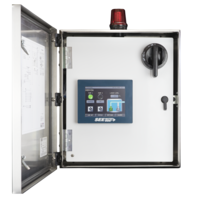Hydra Transducer Pump Control Panel comes in stainless steel NEMA 4X enclosure.