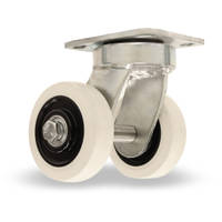 Heat Casters and Wheels feature stainless steel shielded ball bearings.