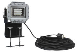 Clamp Mounted LED Fixture comes with impact resistant tempered glass.