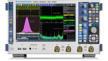 RTO2000 6 GHz Lab Oscilloscope offers up to 16-bit vertical resolution.