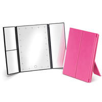 LED Lighted Table Top Cosmetic Mirror comes with micro USB port.
