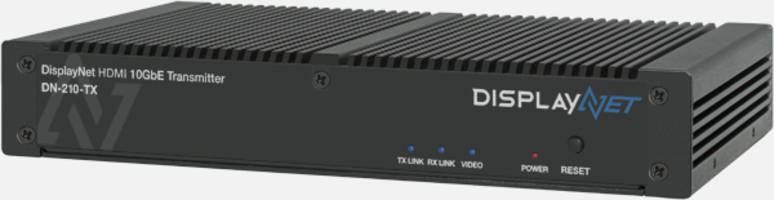 DisplayNet DN-200 Series offers resolutions up to 4K/60p with 8-bit color.