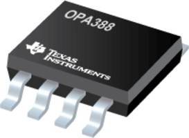 OPA388 Operational Amplifier offers zero-drift and zero-crossover technology.