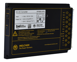 MELCHER™ HP Series DC-DC Converter meets EN 50155, EN 45545 standards.