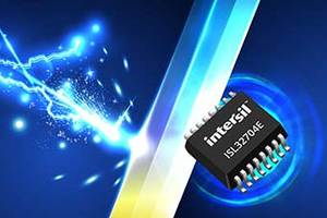 ISL32704E RS-485 Bus Transceiver offers 4Mbps data transmission.