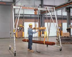 Aluminum Tri-Adjustable Portable Cranes are made of steel.