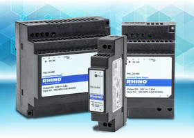 RHINO PSL Series DC Power Supplies feature DIN rail mounting adapter.