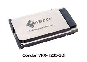 Condor VPX-H265-SDI Encoder supports variable and constant bitrate configurations.