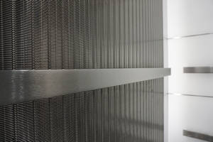 New York City Offices Complemented with Fashionable, Durable Banker Wire Mesh in Elevator Cabs