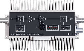 DHPVA Voltage Amplifiers offer 10 dB to 60 dB variable gain.