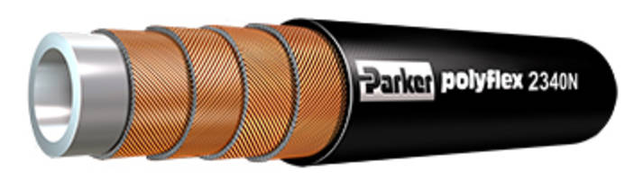 Polyflex 2340N-24 Hose uses Parker 8X Series 316 stainless steel fittings.