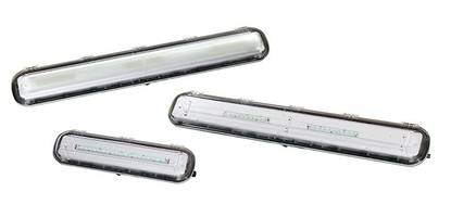 FELED Series LED Luminaires feature hinged polycarbonate lens.