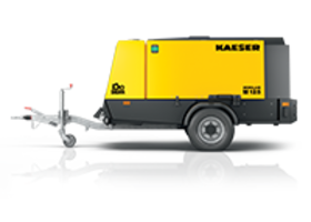 M125 Mobilair Portable Compressor features weatherproofed canopy.
