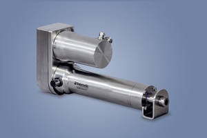 Hygienic, Stainless-Steel Electric Cylinders from Tolomatic are 3A/USDA Approved and Clean-in-Place Compatible