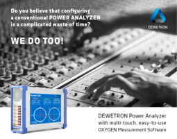 DEWETRON has Redefined the Power Analyzer
