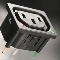 6600-5 Series IEC Outlets feature V-Lock with side latches.