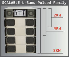Scalable Pulsed L Band Amplifiers feature configurable RS-422 or RS232 interface.