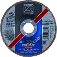 Polifan® Z SG-Power Flap Discs can deal with high contact pressure.