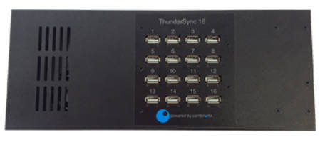 Cambrionix ThunderSync16 Port Hub offers 20Gbits/s transmission speed.