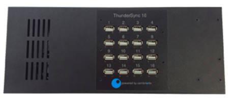 Cambrionix ThunderSync16 Port Hub offers 20Gbits/s transmission speed.