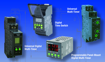 Multi-Timers and Time Switches meet UL and CE standards.