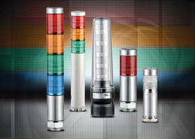 Patlite LED Stack Light Signal Towers feature prism-cut lens design.
