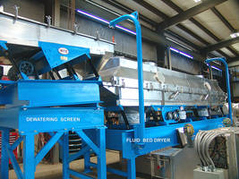 Vibrating Dewatering Screens Remove Excess Moisture to Save Energy in Fluid Bed Drying