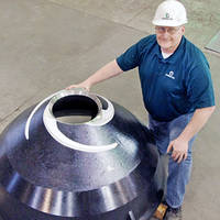 Cone Mantle Field Trials Look Promising for Columbia Steel's High-Output Design