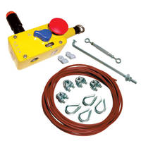 Cable and Push-Button E-Stop Assembly provides cam operation.