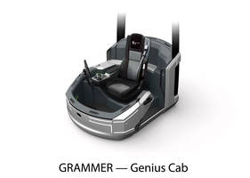 Genius Cab Seats offer automatic adjustment to operator's weight.