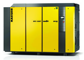 SFC 75-132S VFD Screw Compressors feature enhanced cooling design.