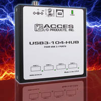 USB3-104-Hub comes with PC/104 module size and mounting compatibility.