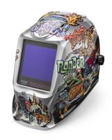 VIKING 3350 Hot Rodders Welding Helmet meet 1/1/1/1 optical clarity standards.