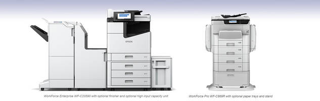 WorkForce Color A3 Multifunction Printers enhance high speed production.