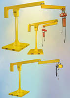 Portable Jib Crane feature heavy duty steel welded construction.