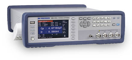 Bench LCR Meters feature built-in adjustable DC bias source.