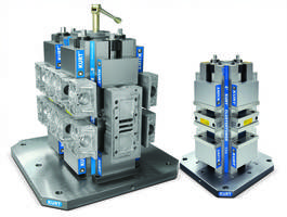 Kurt Workholding's HDL CarvLock® Towers Provide Precision Clamping of Multiple Parts for Horizontal CNC Machines